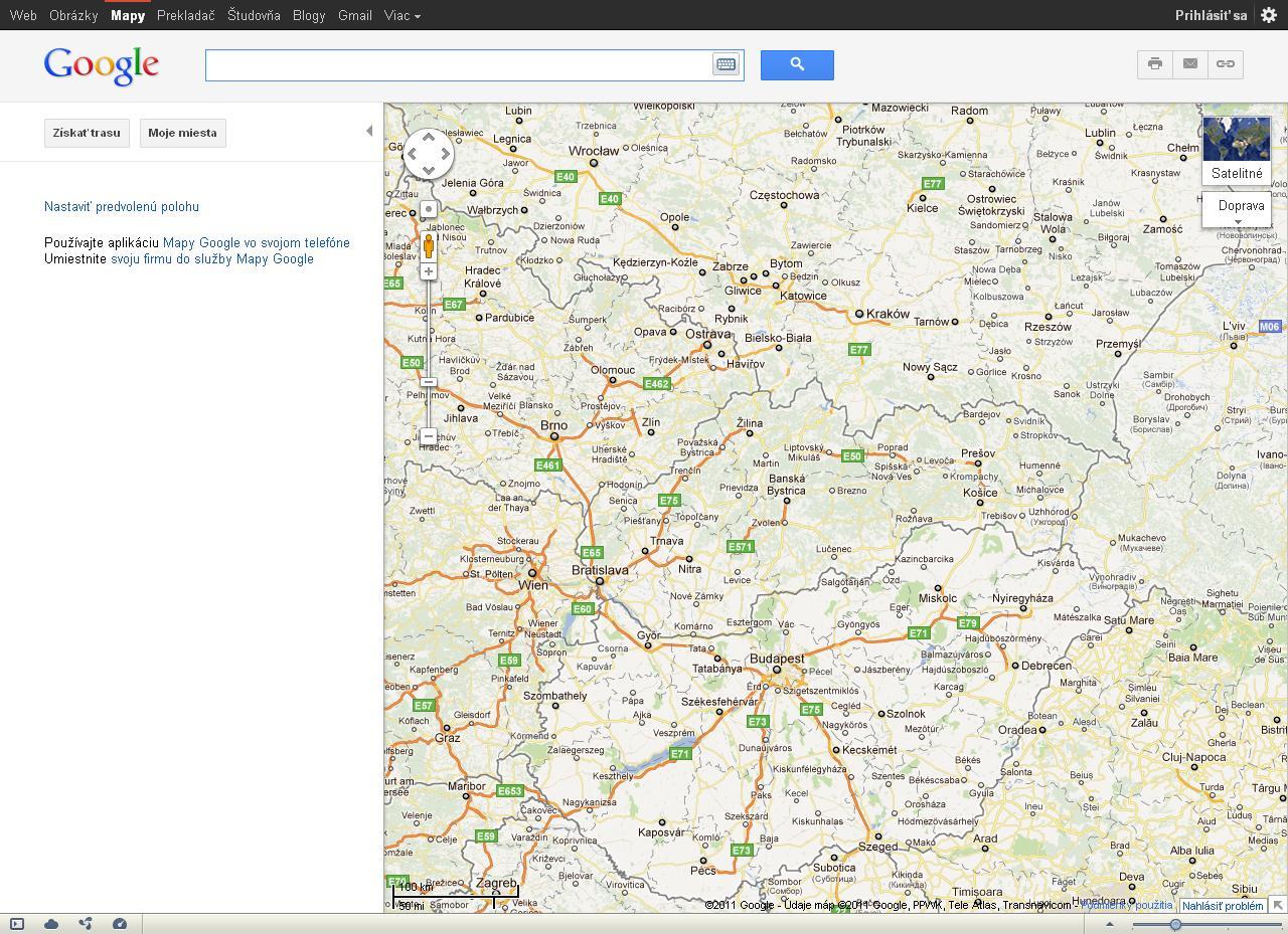 Pridanie Google mapy na stránky