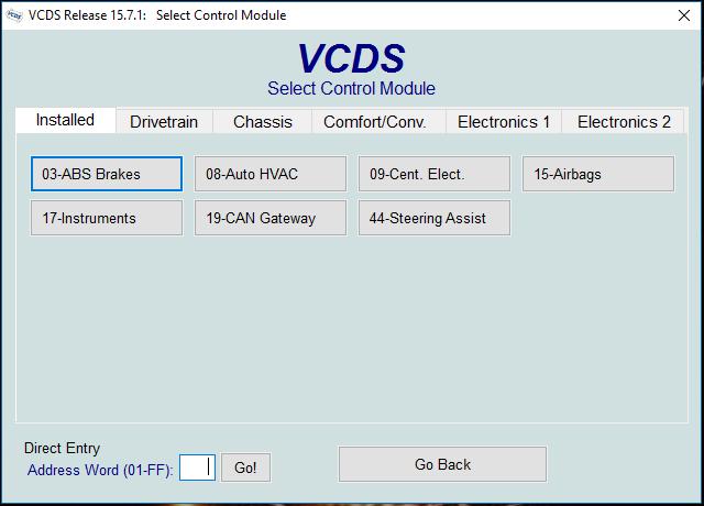 VCDS kódovanie Fabia III 2016 v1.0
