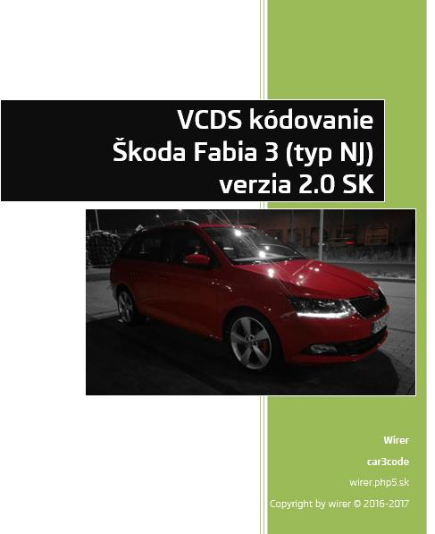 VCDS kódovanie Fabia III 2016 v2.0