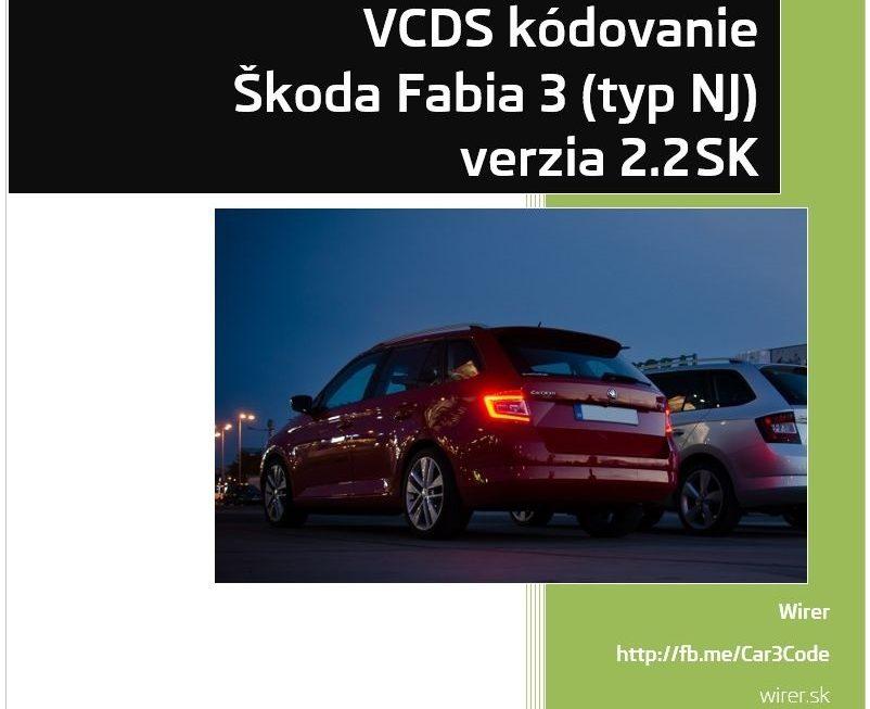 VCDS kódovanie Fabia III 2016 v2.2